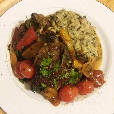 Pan seared lamb chops and Risotto